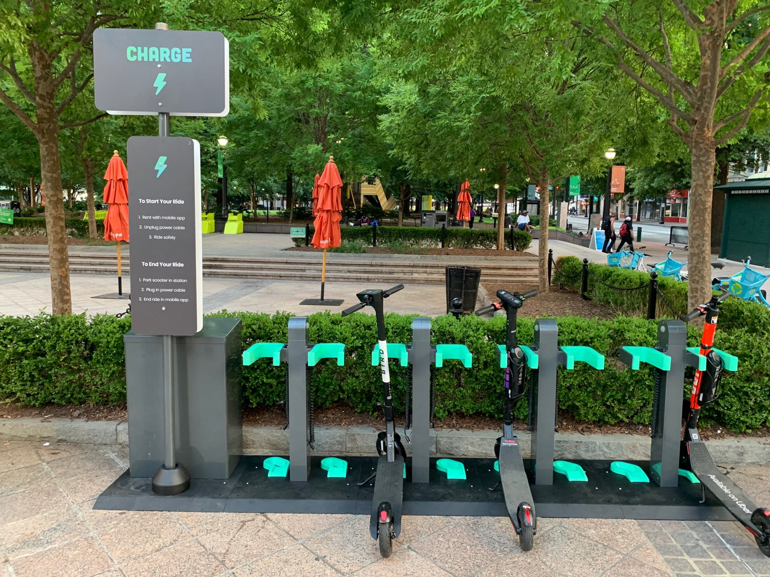 GetCharged Inc. (Charge) Launches Atlanta's First Electric Scooter Docking Station