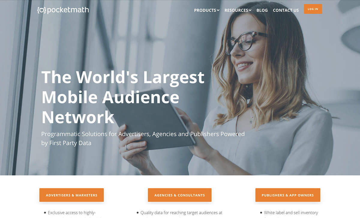 Pocketmath website redesign