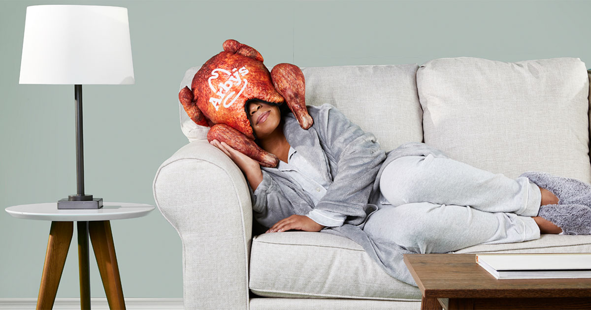 Arby's deep fried turkey pillow advertisement campaign