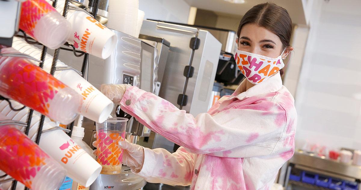 Charli D'Amelio Dunkin' Brand Influencer Collaboration