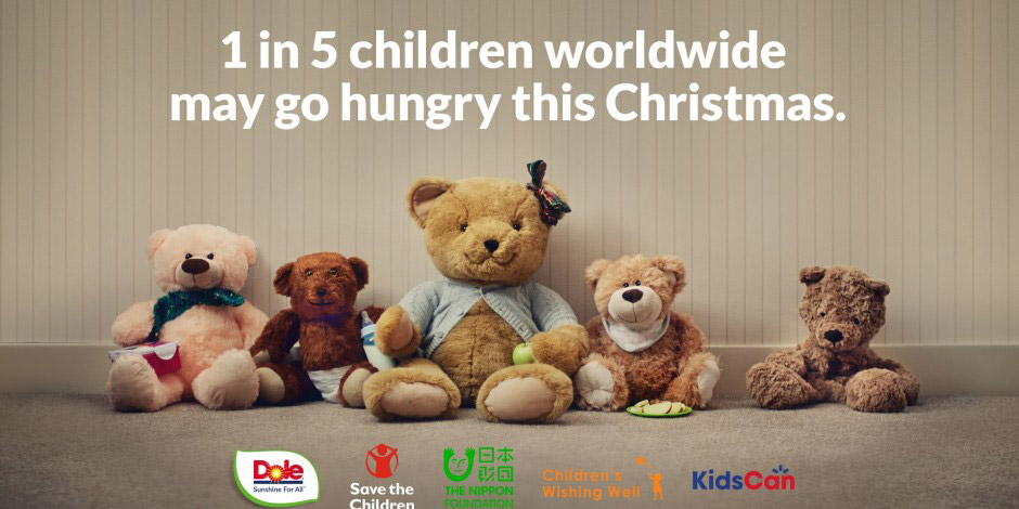 Dole unstuffed bear charity campaign