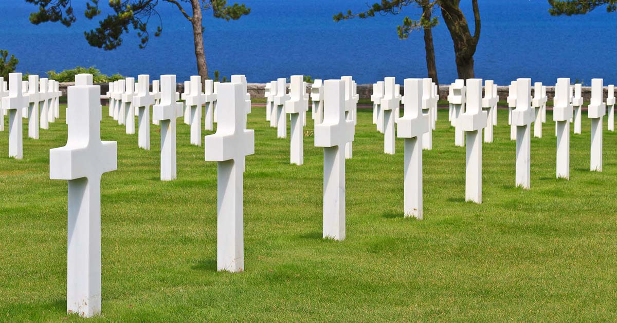 Omaha Beach Memorial Day remembrance