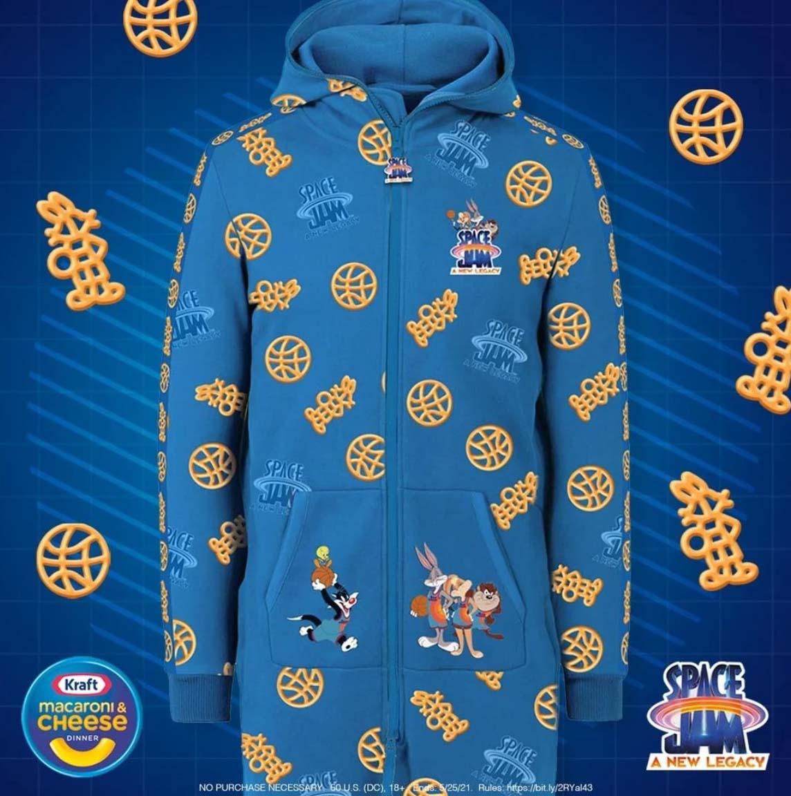 Kraft Mac and Cheese Space Jam Branded Merchandise
