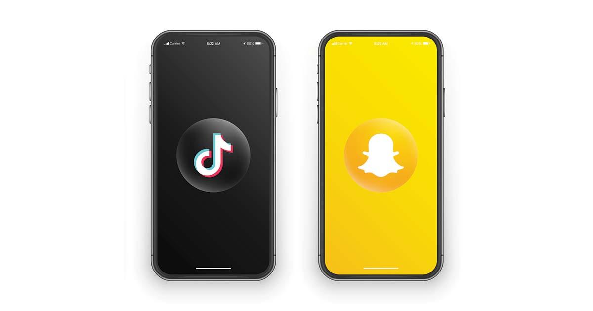 TikTok Snapchat