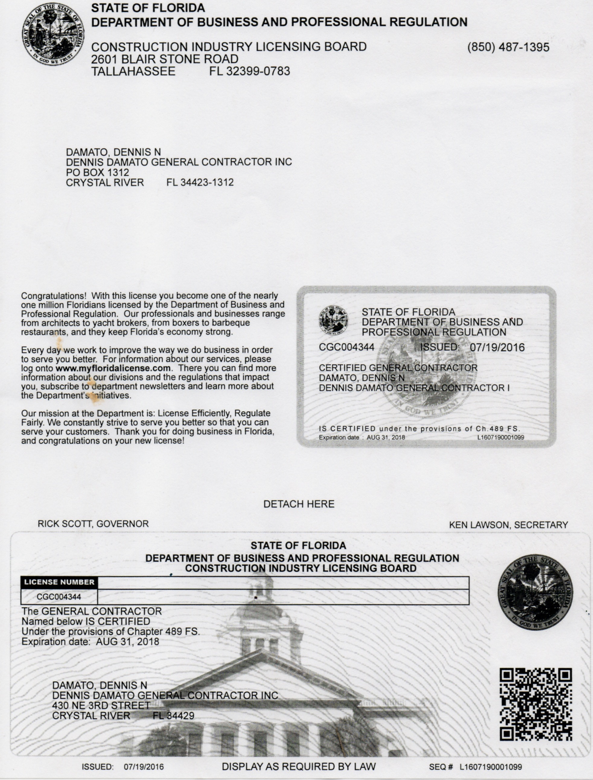 Dennis Damato license