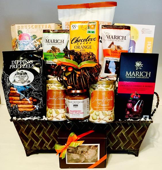 thanksgiving basket, thanksgiving gift, corporate thanksgiving basket, holiday basket, perfect gift for thanksgiving