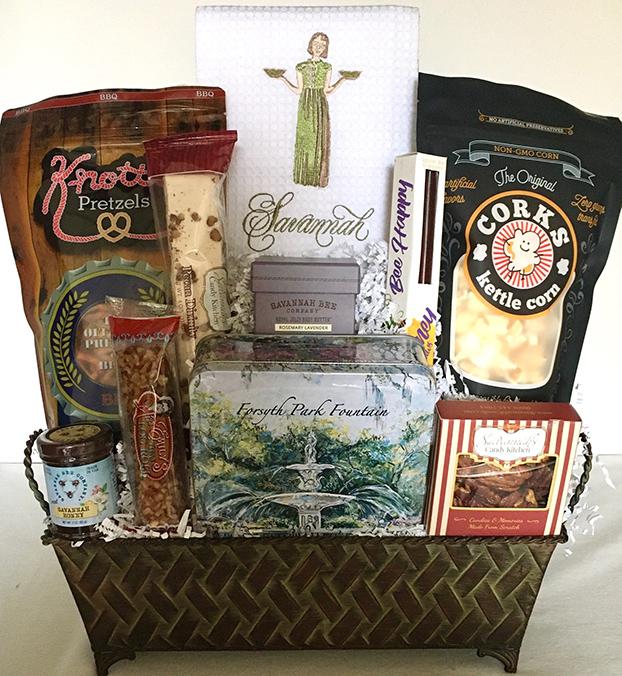 savannah gift basket, gift basket savannah, welcome to georgia basket, savannah basket, new resident savannah gift, georgia gift basket