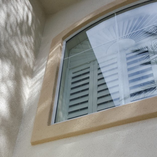 Residential window cleaned meticulously