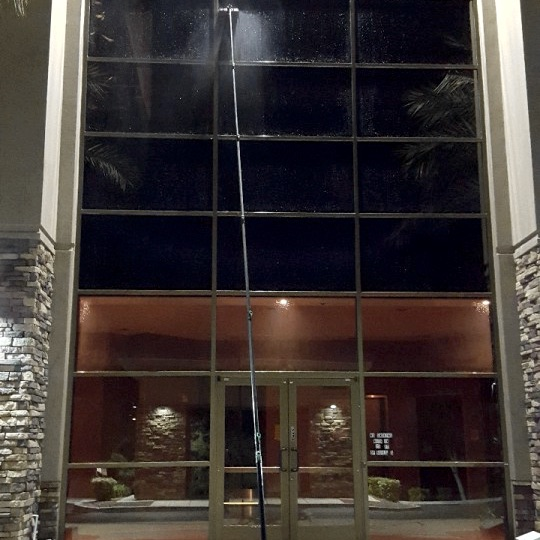 Commercial building in Las Vegas with clean windows