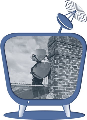 Sky Satellite Installation Icon
