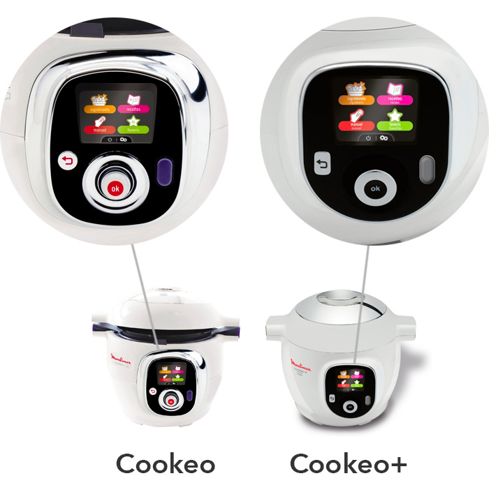 illustration interface cookeo Vs cookeo+