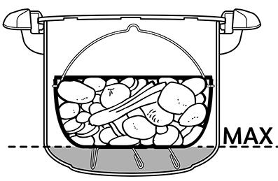 niveau d'eau optimal pour cuisson vapeur