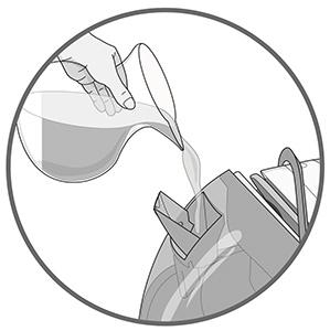 illustration remplissage reservoir Calor GV7091C2