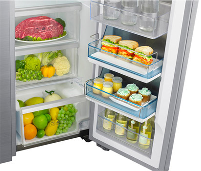 photo amenagement interieur frigo americain