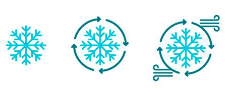 illustration 3 types de froid