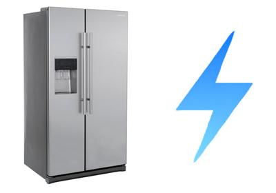 illustration consommation electrique frigo amercain