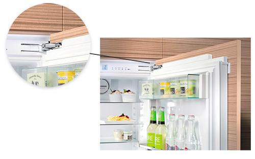 photo fixation charniere refrigerateur encastrable