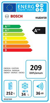 photo etiquette energie refrigerateur encastrable