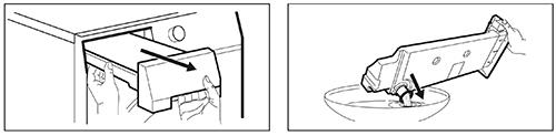 illustration vidange reservoir seche linge