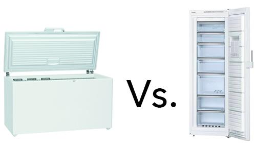 illustration congelateur coffre Vs congelateur armoire
