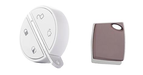 photo telecommande et badge activation alarme