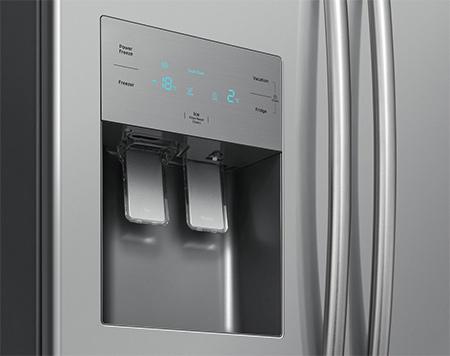 photo distributeur eau et glacon frigo americain