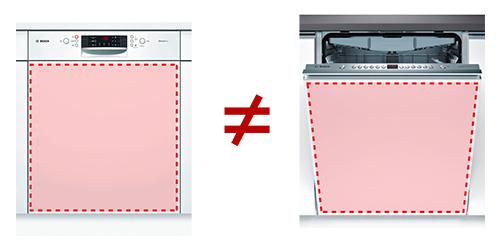 illustration facade lave vaisselle encastrable