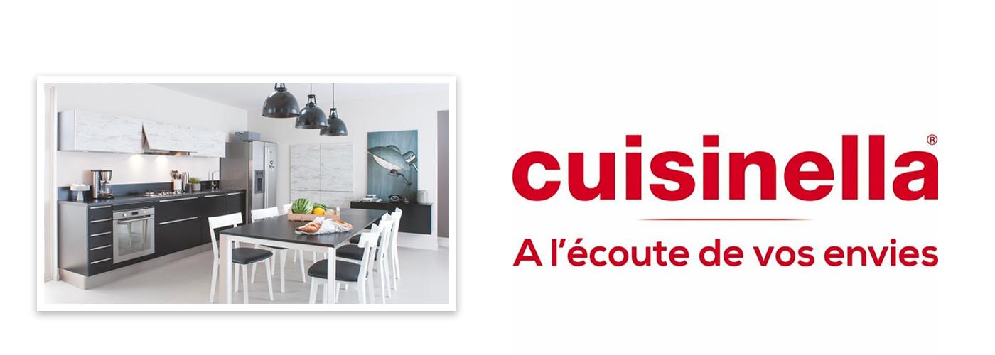 photo cuisine et logo Cuisinella