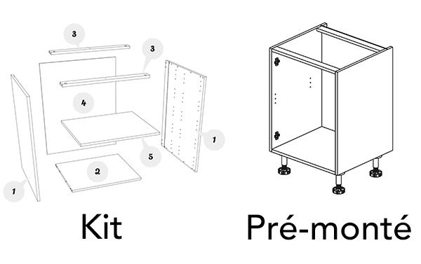 illustration meuble kit ou pre montes