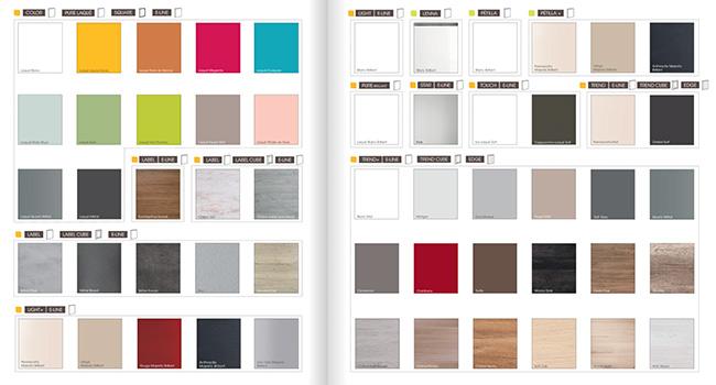 illustration choix coloris et facade cuisine Cuisinella