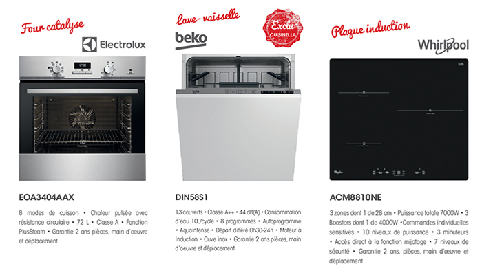 Choix electromenager Cuisinella