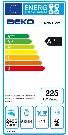 Etiquette Energie Beko DFS28120W