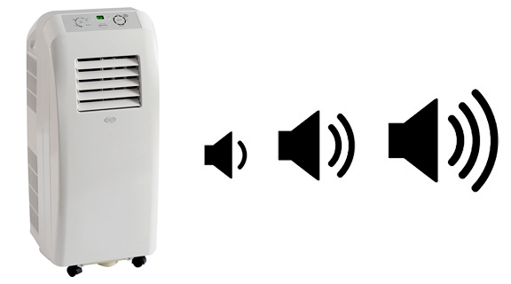 illustration bruit climatiseur mobile