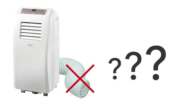 illustration climatiseur mobile sans tuyau d'évacuation