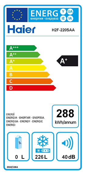 Etiquette Energie Haier H2F220SAA