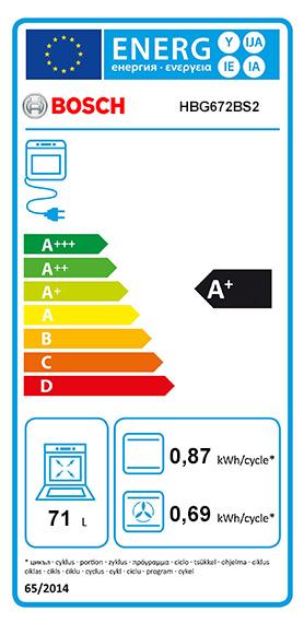 Etiquette Energie Bosch HBG672BS2