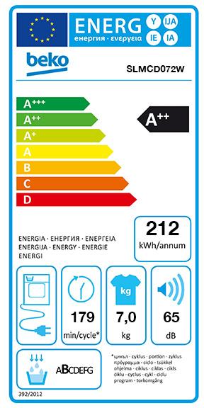Etiquette Energie Beko SLMCD072W