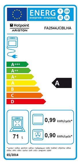 Etiquette Energie Hotpoint FA2544JCBLHA