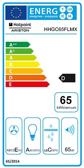 Etiquette Energie Hotpoint HHGC65FLMX