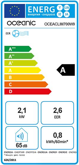 Etiquette Energie Oceanic OCEACLIM700W9