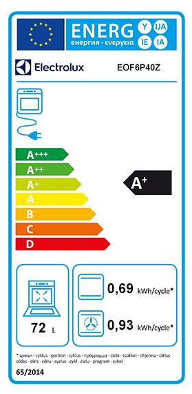 Etiquette Energie Electrolux EOF6P40Z