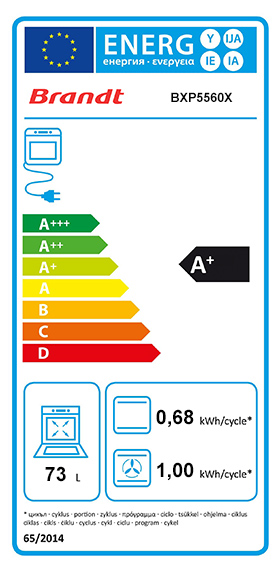Etiquette Energie Brandt BXP5560X