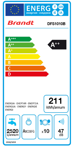 Etiquette Energie Brandt DFS1010B