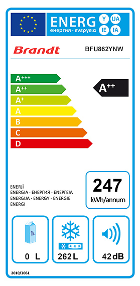 Etiquette Energie Haier HUZ676W