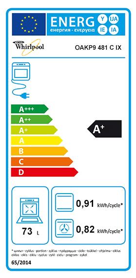 Etiquette Energie Whirlpool OAKP9481CIX
