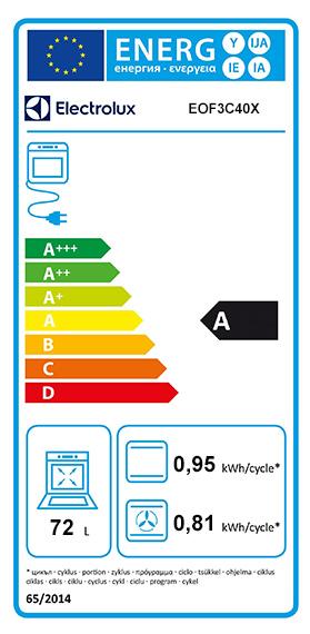 Etiquette Energie Electrolux EOF3C40X
