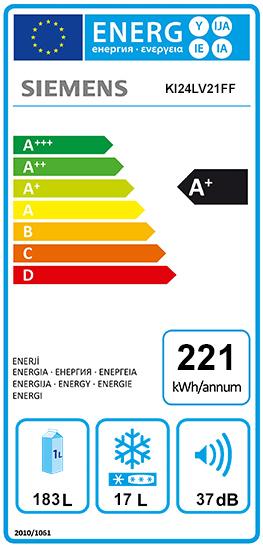 Etiquette Energie Siemens KI24LV21FF
