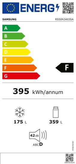 Etiquette Energie Samsung RS50N3403SA