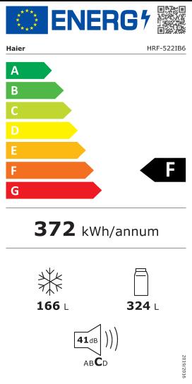 Etiquette Energie Haier HRF522IB6