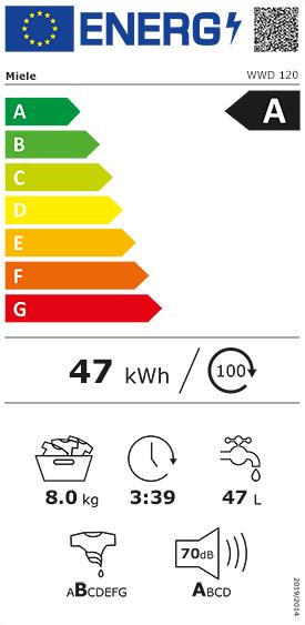 Etiquette Energie Miele WWD 120
